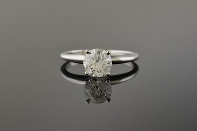 White Gold Round Diamond Solitaire