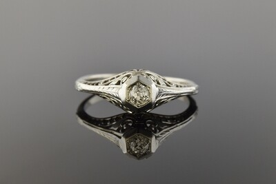 Art Deco Filigree Ring
