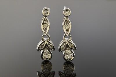 Mid Century Modern Diamond Dangle Earrings