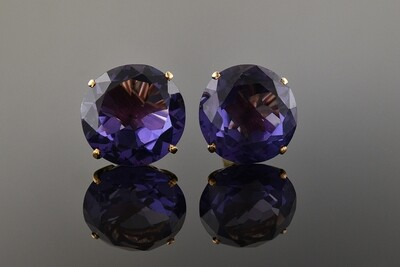Simulated Alexandrite Earrings