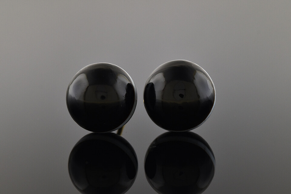 Late Victorian Banded Agate Earrings