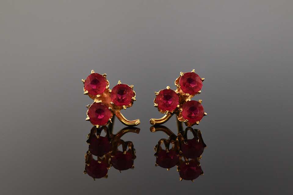 Victorian Clover Earrings