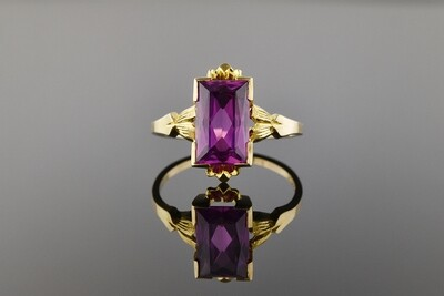 Synthetic Pink Sapphire Ring