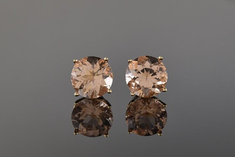 Morganite Stud Earrings