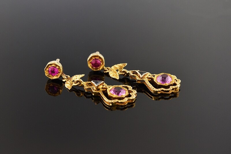 Colorful Victorian Earrings