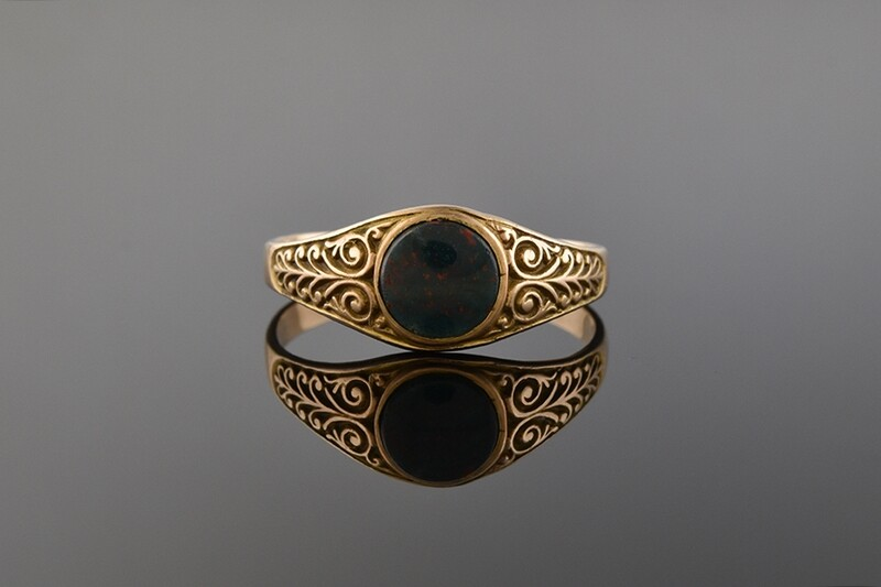 Victorian Bloodstone Ring