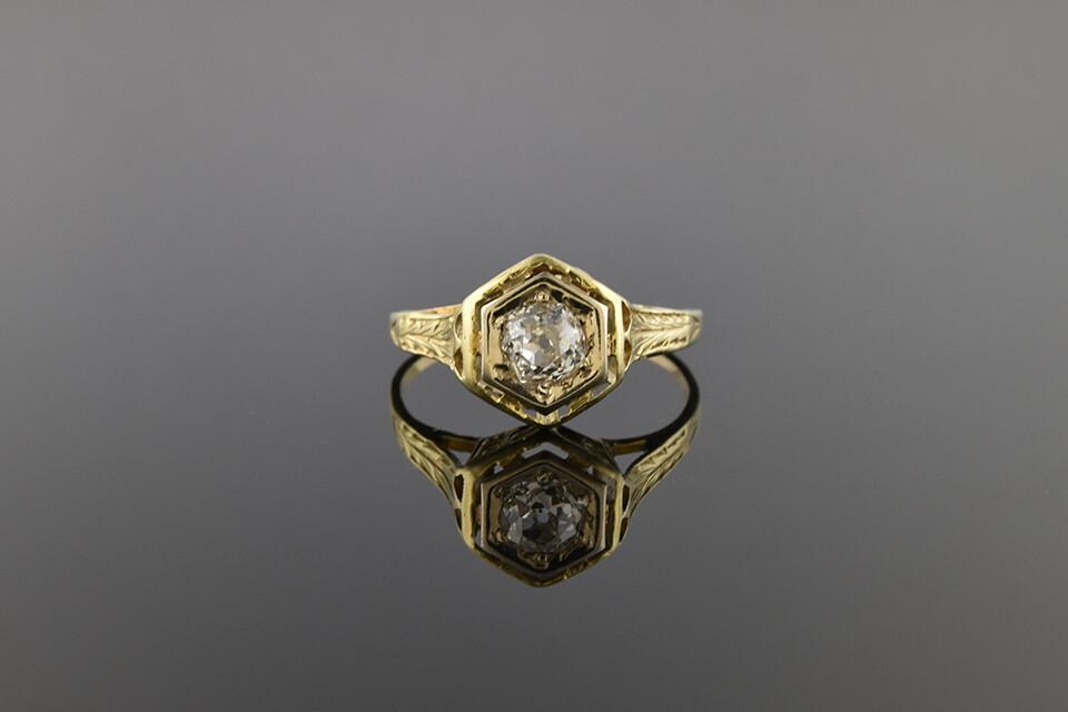 Turn Of The Century Filigree Ring