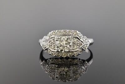 Late Art Deco Diamond Ring