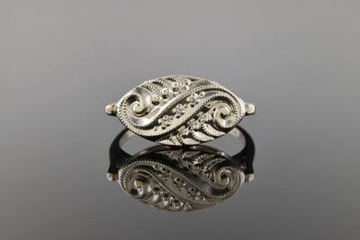 White Gold Mid Century Ring
