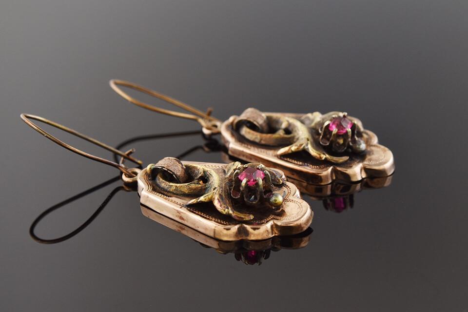 Georgian Rosy Gold Earrings