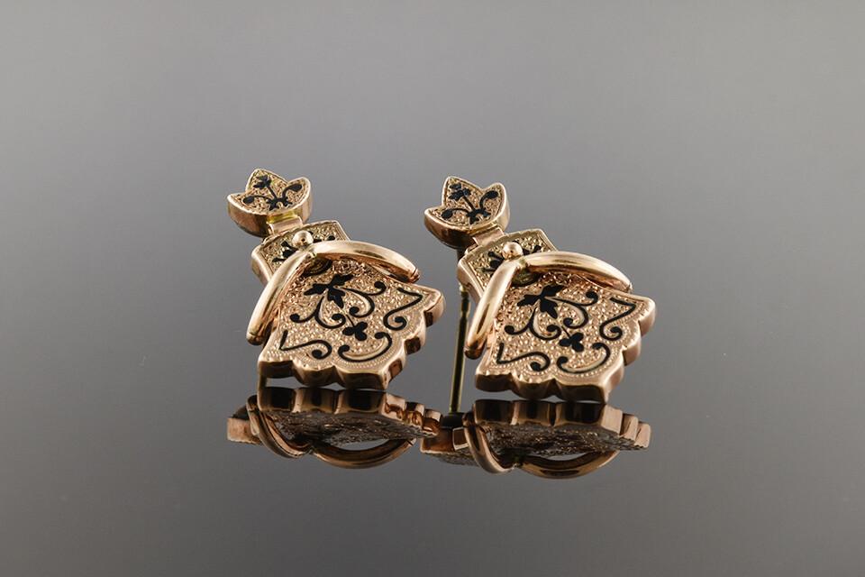 Victorian Enamel Earrings