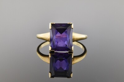 Modest Purple Stone Solitaire