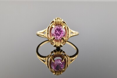 Charming Ring With Pink Stone