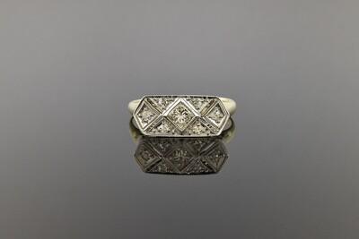 Edwardian Ring With Modern Center Diamond