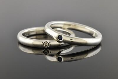 Silver Elsa Peretti Band Rings