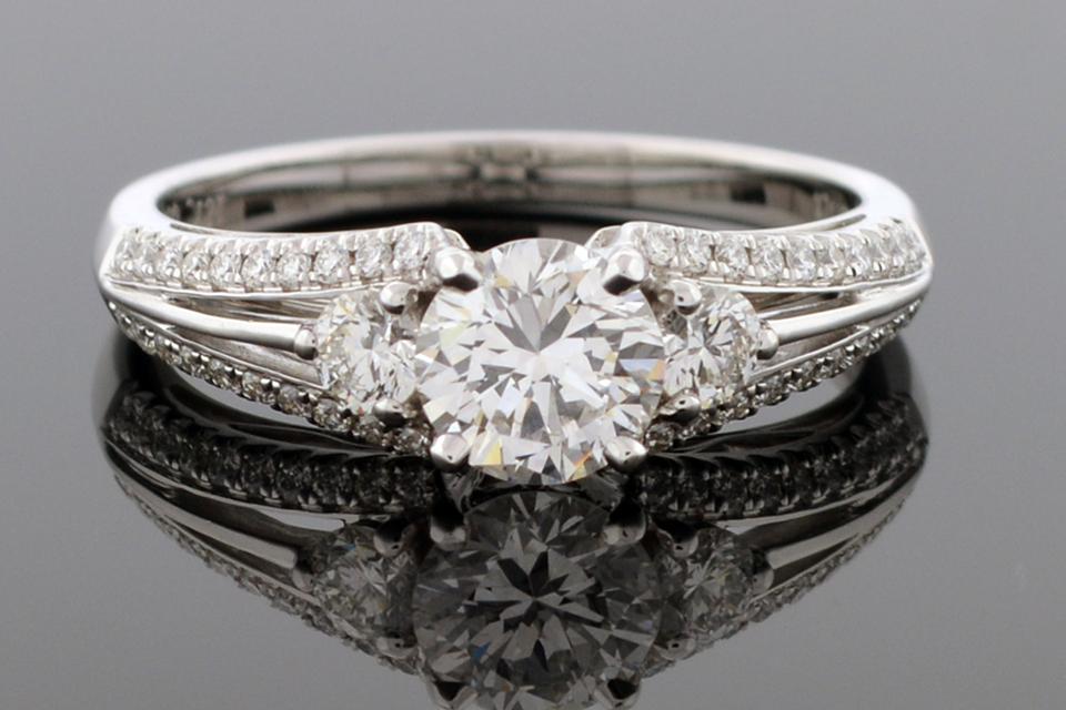 Split Shank Engagement Ring by Simon G