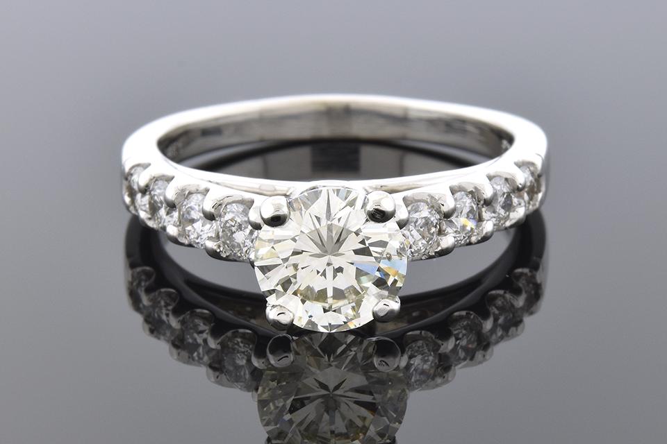 High Set Diamond Engagement Ring
