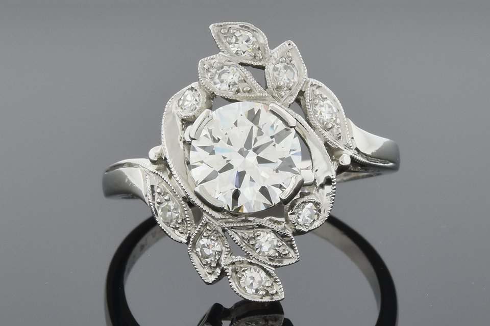 Garden of Diamonds Vintage Ring