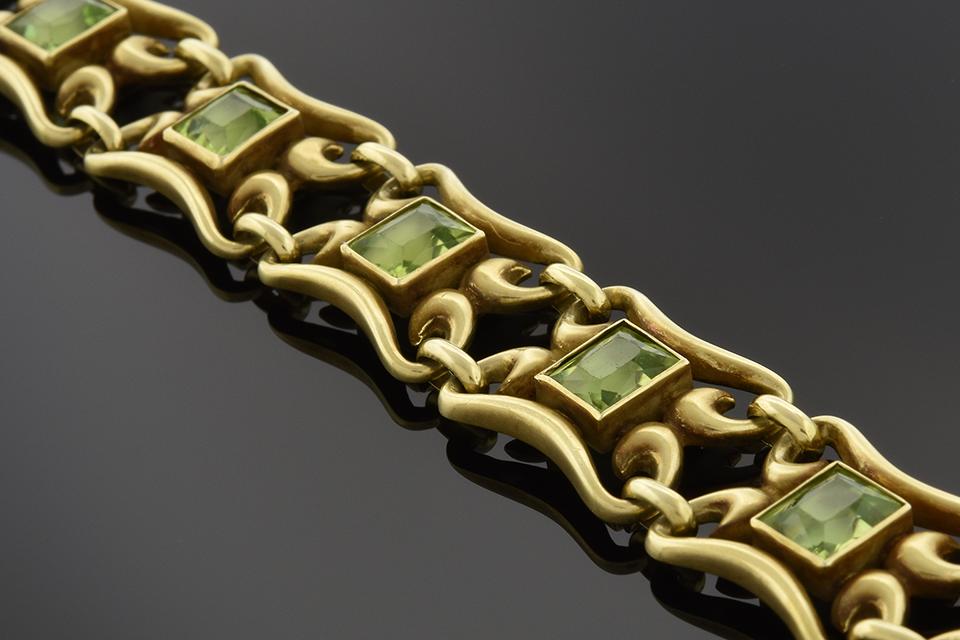 Art Nouveau Peridot Bracelet