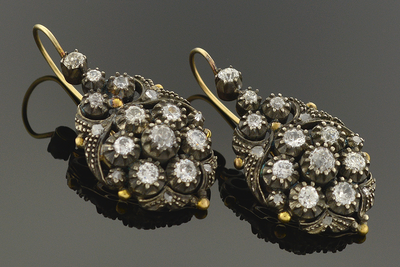 Georgian Diamond Dangle Earrings