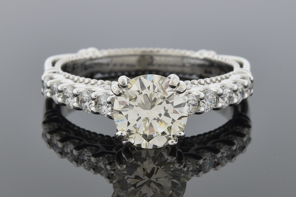 Classic Engagement Ring with Delicate Details by Verragio