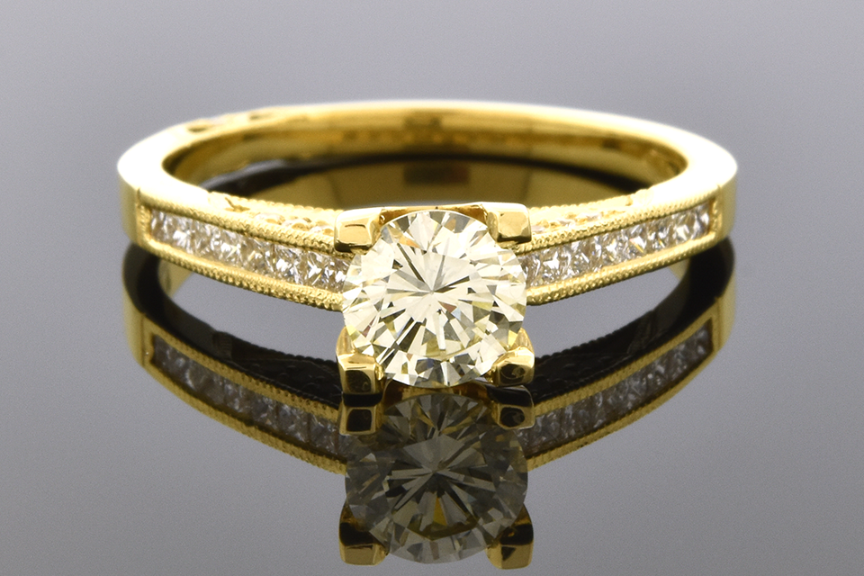 Engagement Ring with a Warm .70 Carat Diamond by Tacori