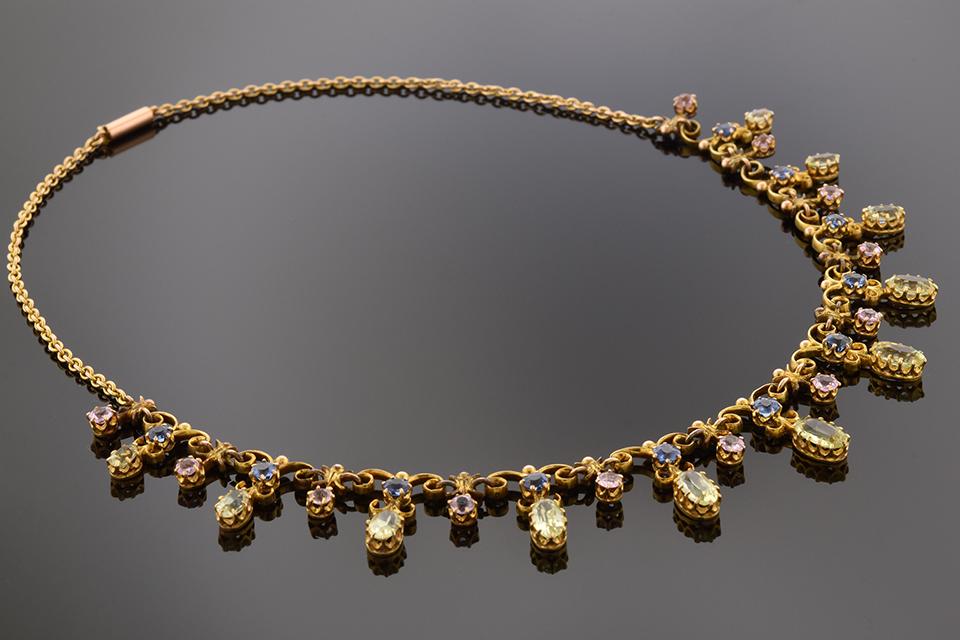 Antique Multi-Color Gemstone Necklace