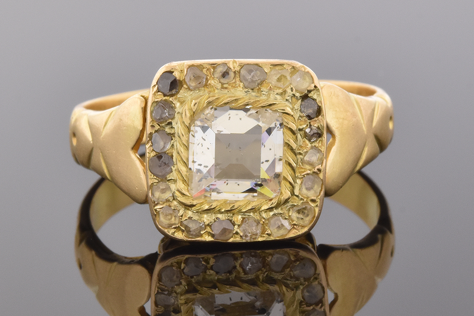 Antique Table Cut Diamond Ring