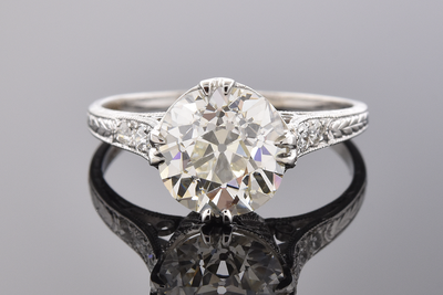 Fine Art Deco Diamond Engagement Ring