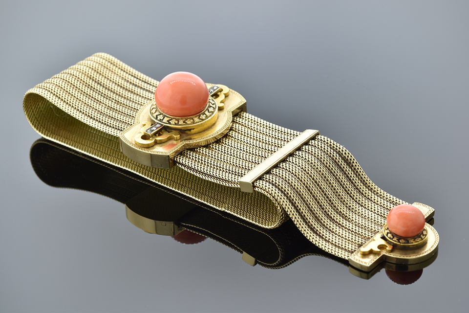 Victorian Coral Slide Bracelet