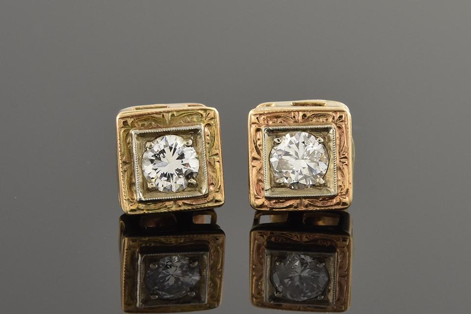 Vintage Baby Diamond Earrings