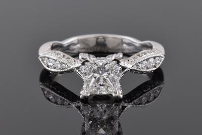 Princess Cut Tacori Engagement Ring