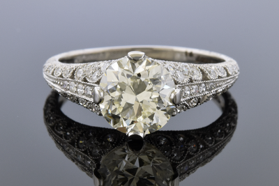Diamond Detailed Open Design Engagement Ring