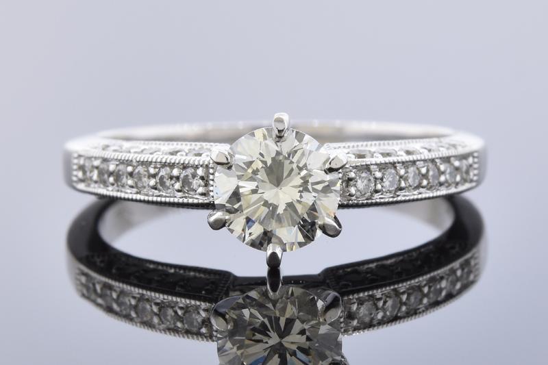 Classic Design .70 Carat Diamond Engagement Ring