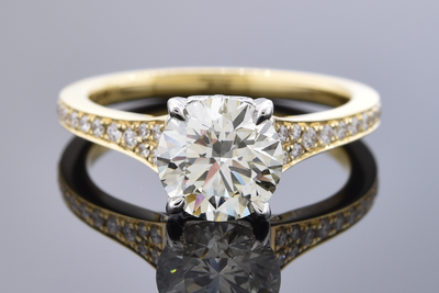 Bright 1.72 Carat Diamond Engagement Ring