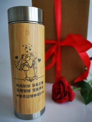 Personalize Wooden Keepwarm Tumbler | Drinking Bottle | Creative Engraved | Longer lasting