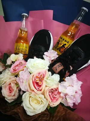 Special Drink Engraved Photo | With Sport Shoes Bouquet Led Light