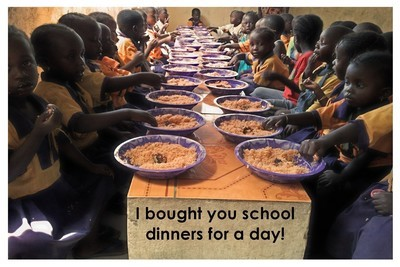 School dinners for a day