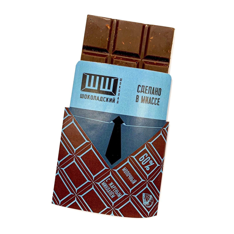 Шоколадский Шоколад с миндалём молочный 60%