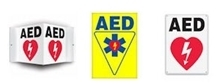 AED Flat sign