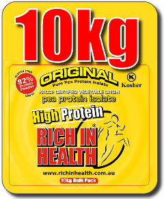 10 Kg Original Bulk Pure Pea Protein Powder Bag