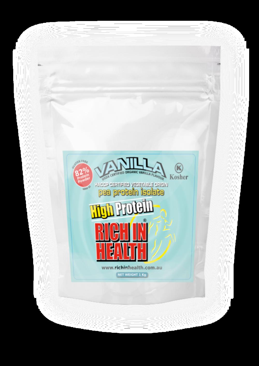 1Kg Post Ready Vanilla Flavour Pea Protein Powder