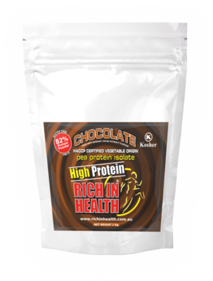 1Kg Post Ready Chocolate Flavour Plant Based Pea Protein Powder