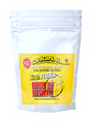 1Kg Post Ready Original Plant Based Pea Protein Isolate Powder by Rich In Health