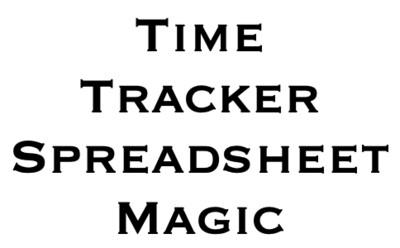 Time Tracker Spreadsheet Magic