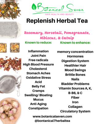 Replenish Herbal Hair Tea (21 Tea Bags)