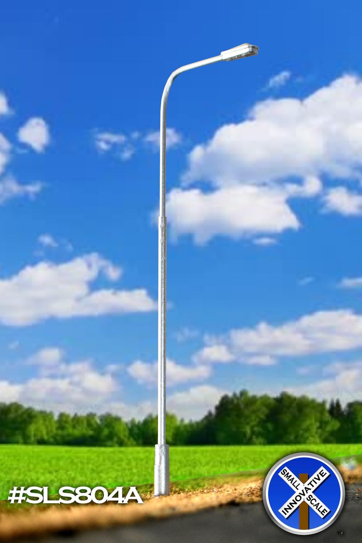 Modern Single Mast LED Warm White Street Light
