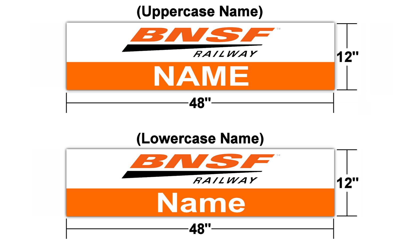 "BNSF Version 1 Station Sign 48"" x 12"" (Customizable)"