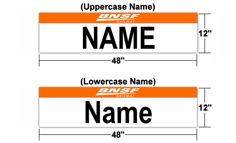 "BNSF Version 2 Station Sign 48"" x 12"" (Customizable)"