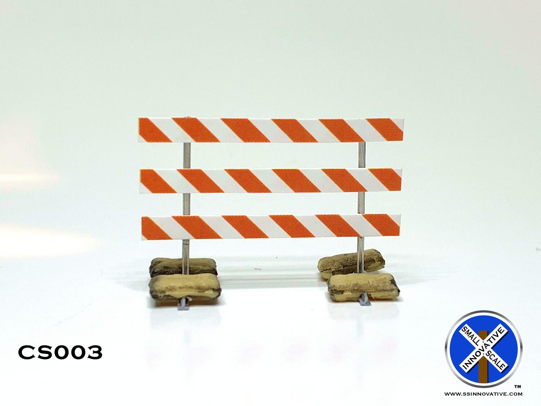 Type III Barricade With Sand Bags